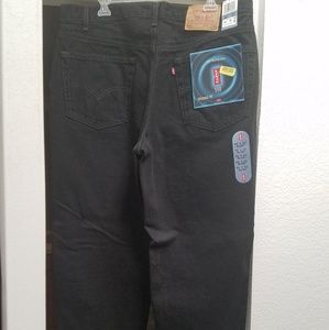 Levi's 550 Black Relaxed Fit Jeans 40 x 32 Length